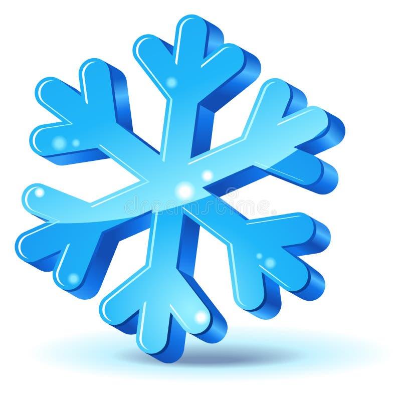 ikona płatek śniegu ilustracji