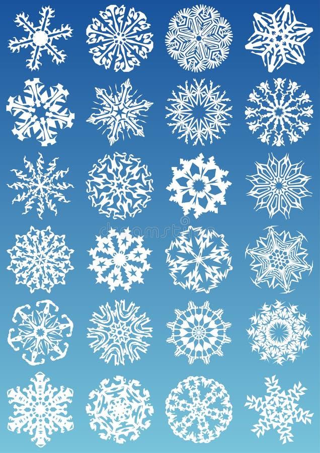 ikona płatki śniegu royalty ilustracja