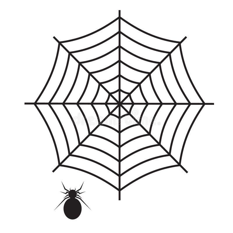 Ikona pajęczyny na białym tle płaski styl pajęcza sieć Web i ikona pająka dla projektu witryny sieci Web, logo, aplikacji, interf royalty ilustracja