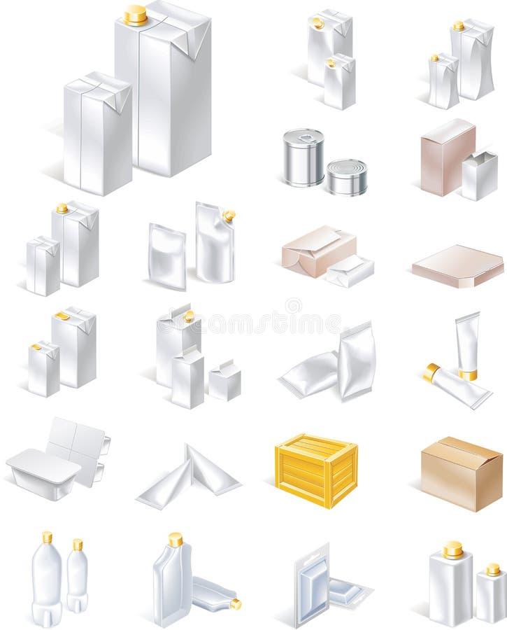 ikona pakuje ustalonego wektor ilustracji