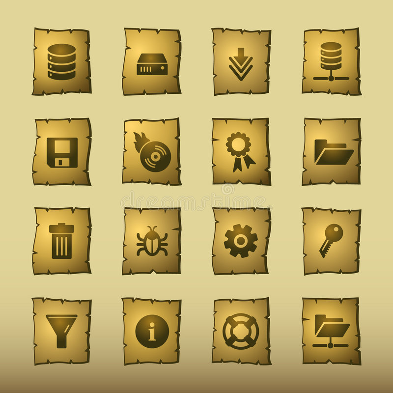 ikona papirusu serwer