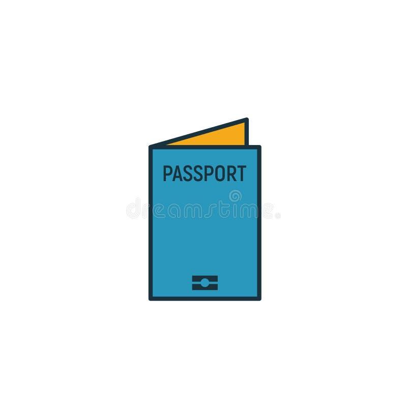 Ikona paszportu międzynarodowego Prosty element z kolekcji ikon turystycznych ikona usługi Creative International Passport ui, ux ilustracji