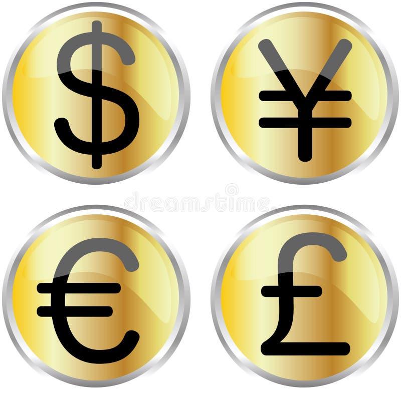ikona pieniądze royalty ilustracja