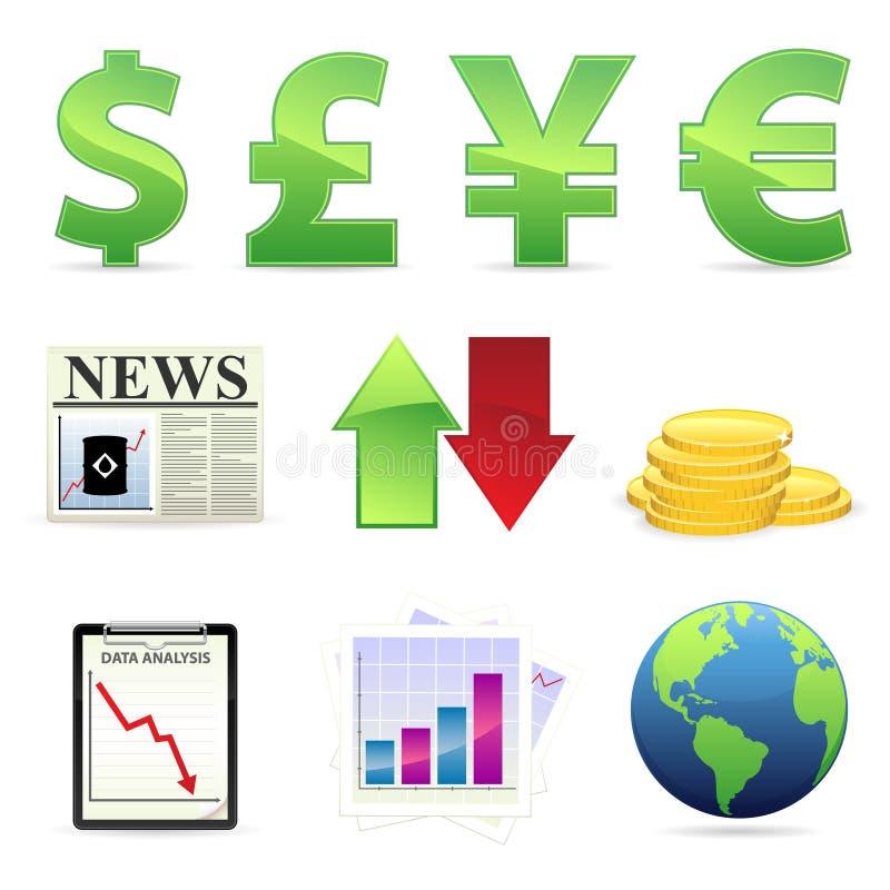 ikona pieniężny zapas ilustracji