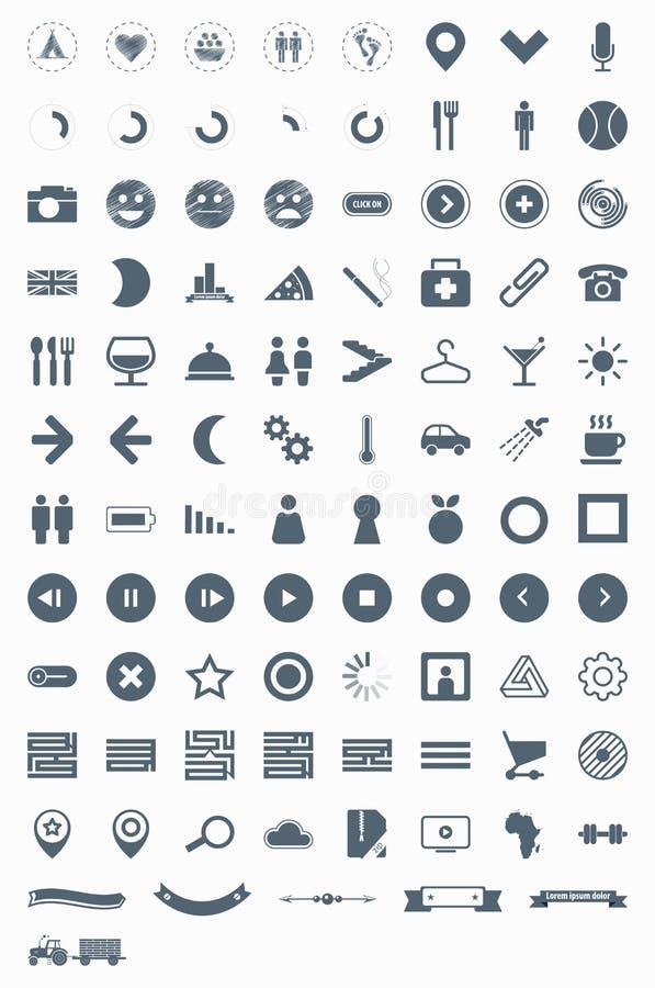 ikona piktogramy ustawiają znaków symboli/lów wektor ilustracji