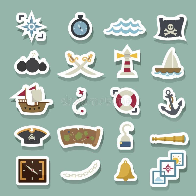 ikona piraci ilustracja wektor