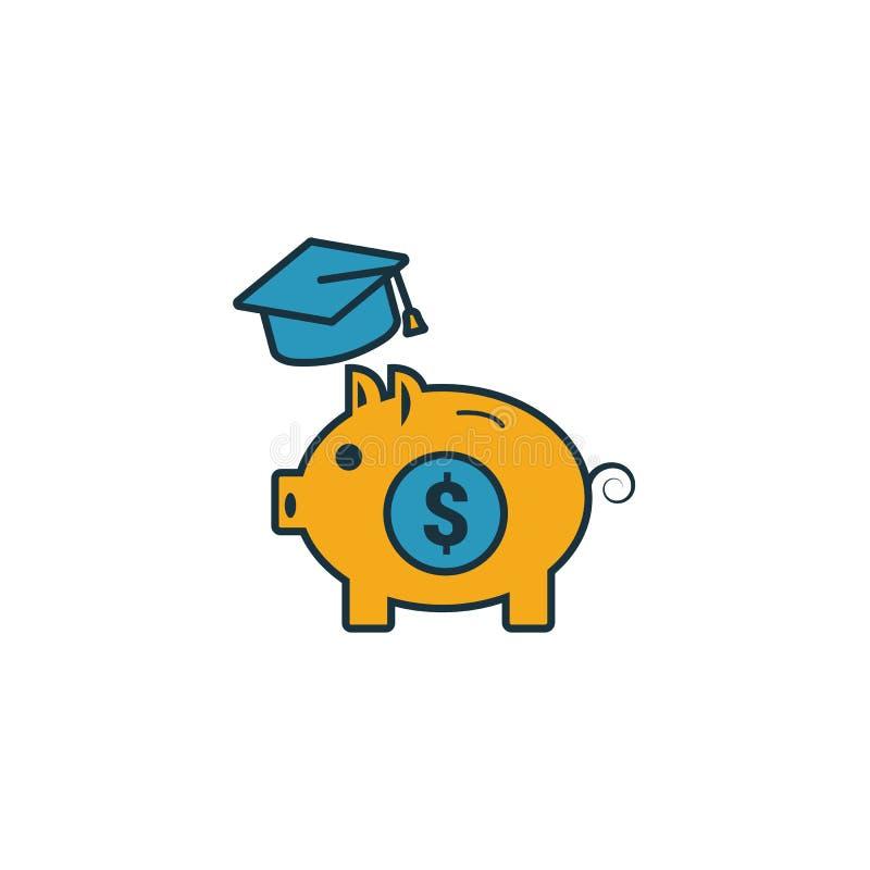 Ikona planu oszczędzania na studiach Prosty element z kolekcji ikon finansów osobistych Creative College Saving Plan icon ui, ux, royalty ilustracja