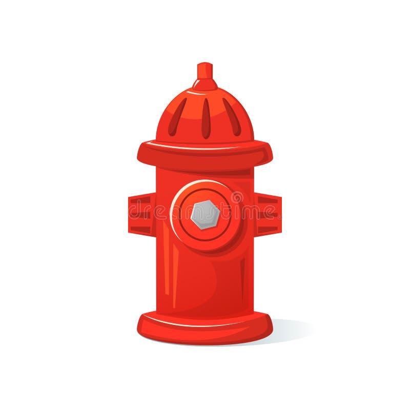 Ikona pożarniczy hydrant, wektorowa ilustracja ilustracja wektor