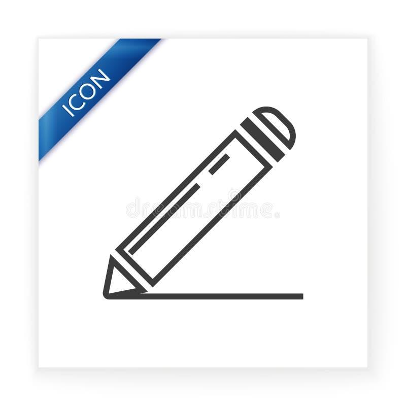 ikona podpisuje podpisywać ilustracji