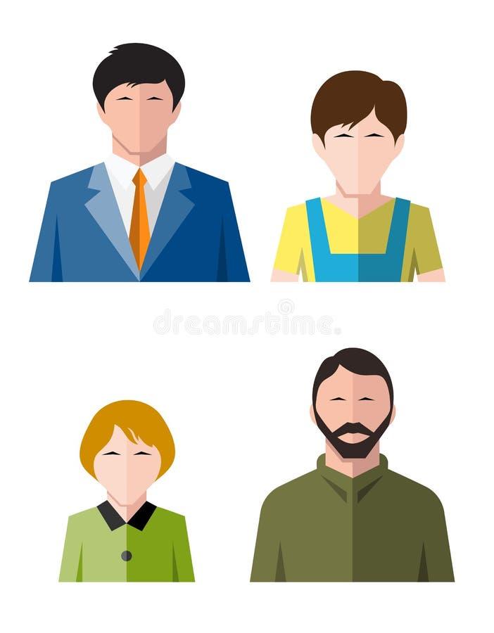 Ikona pracownika mieszkania styl ilustracja wektor
