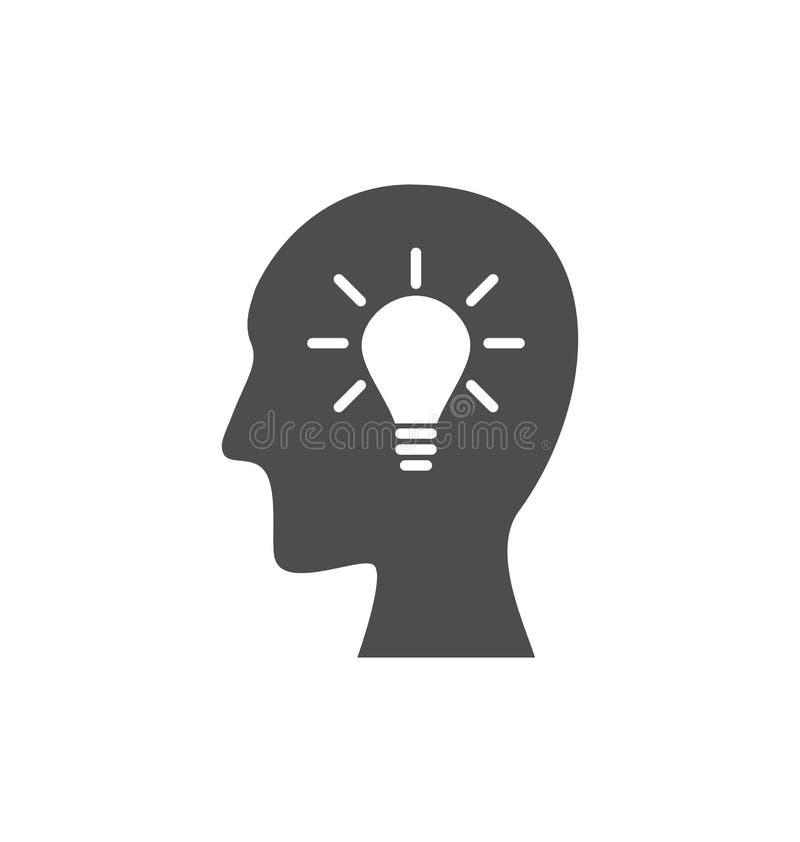 Ikona proces wytwarzać pomysły rozwiązywać problemy, narodziny royalty ilustracja