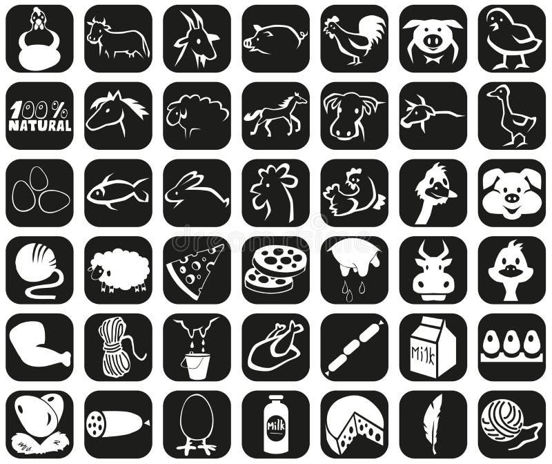 Ikona produkty i zwierzęta royalty ilustracja