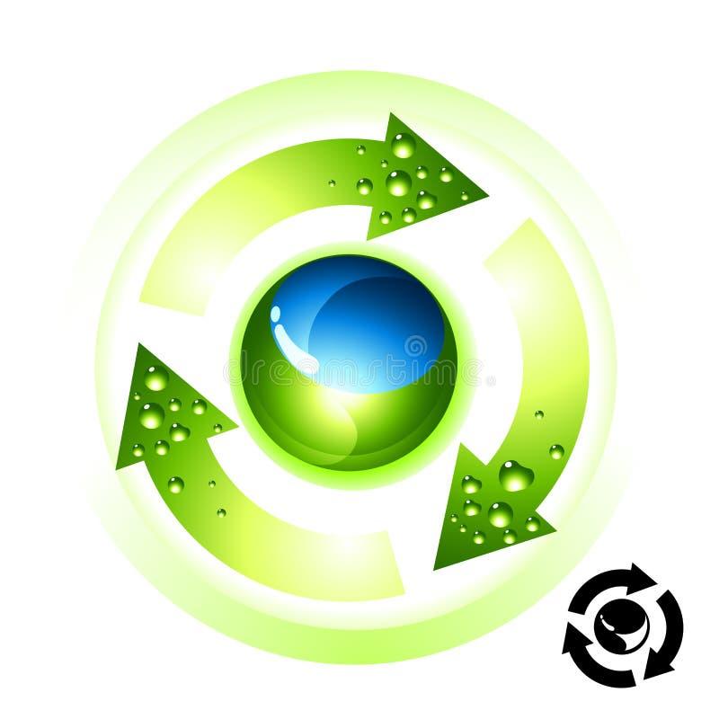 ikona przetwarza globu ilustracja wektor