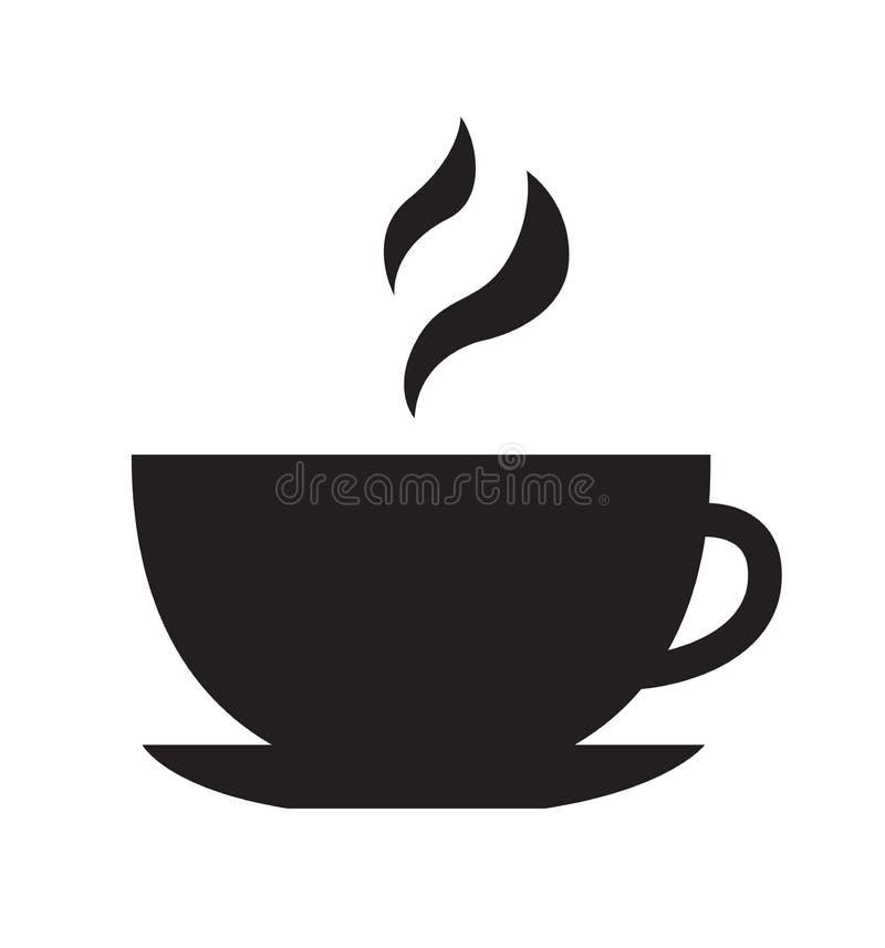 Ikona pucharu ilustracja wektora gorący napój herbata izolowana na białym ilustracja wektor