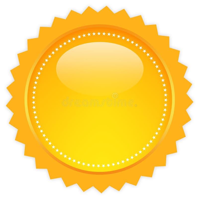 ikona pusty okrąg royalty ilustracja