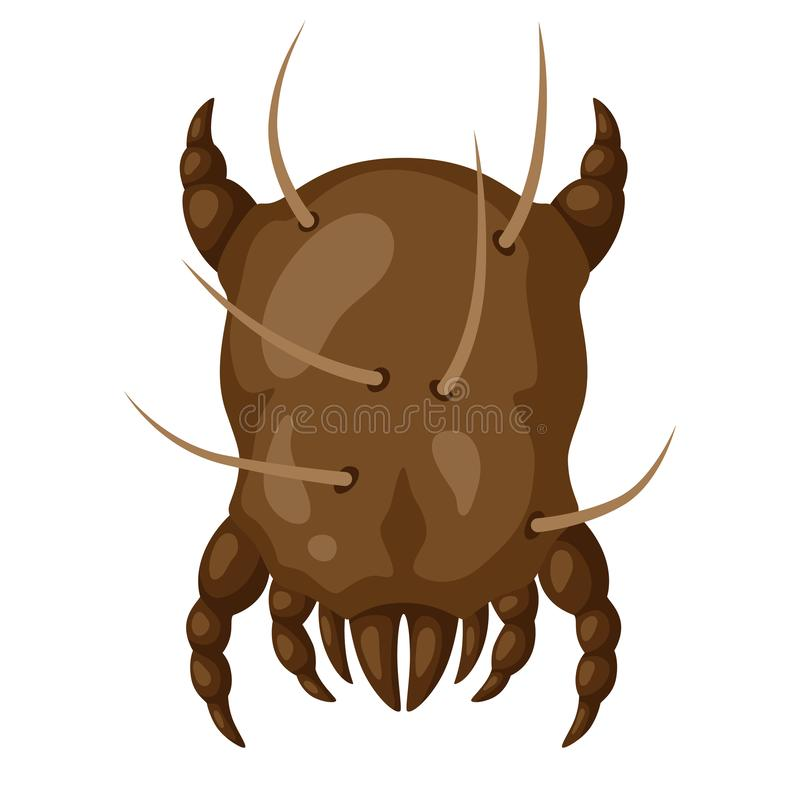 Ikona pyłu lądzieniec insekt ilustracji