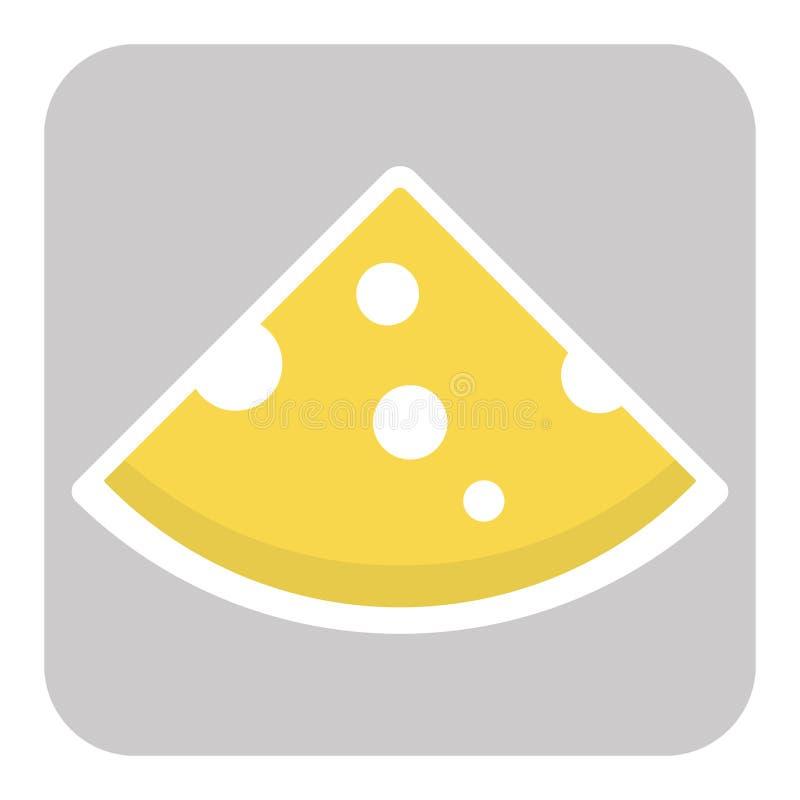 Ikona rżnięty serowy kawałek royalty ilustracja