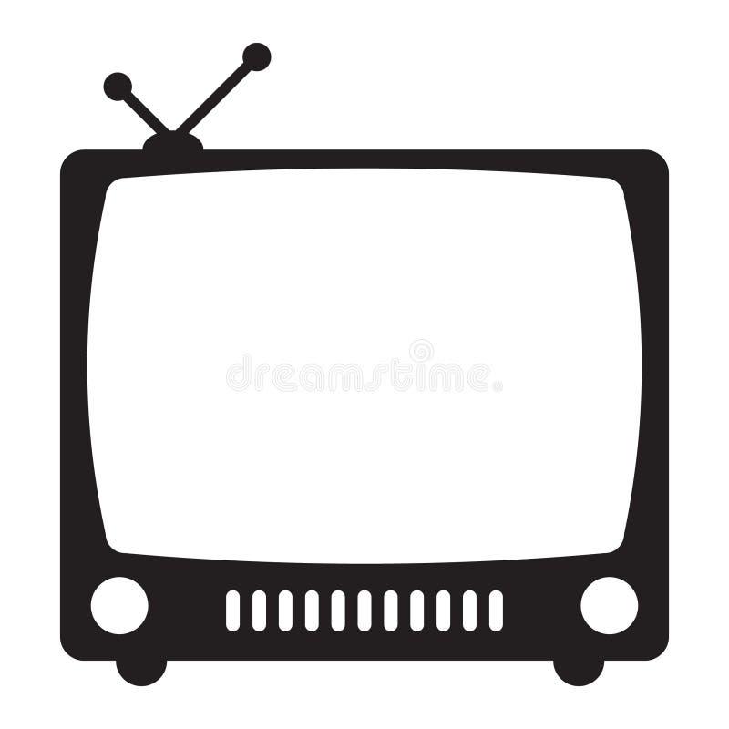 ikona retro tv ilustracja wektor