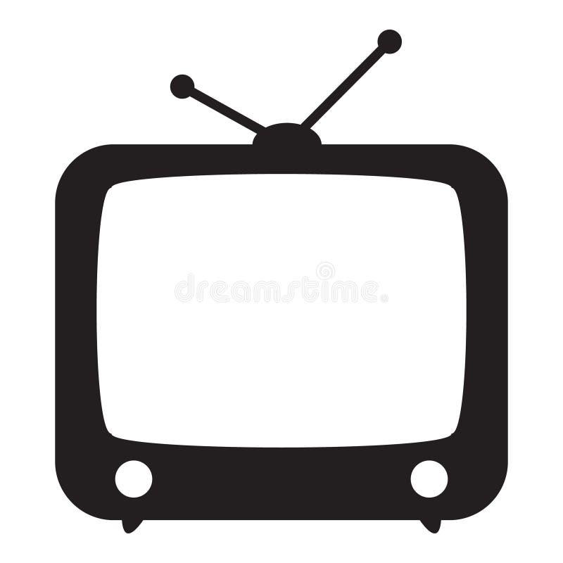ikona retro tv royalty ilustracja