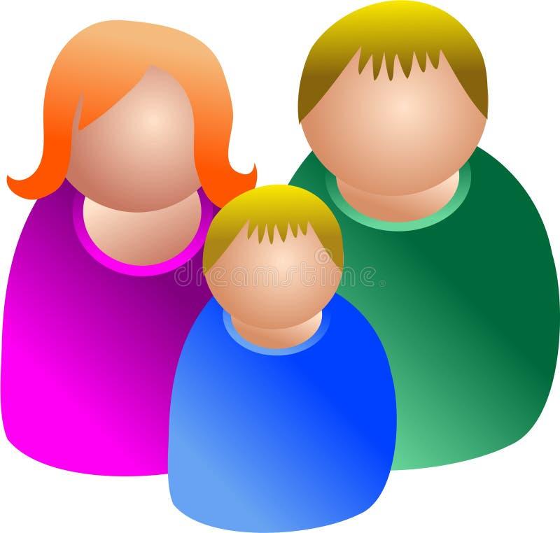 ikona rodzinna royalty ilustracja