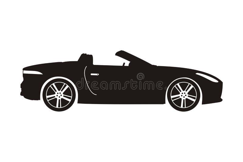 Ikona samochodu kabriolet ilustracja wektor