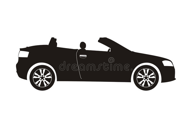 Ikona samochodu kabriolet ilustracji