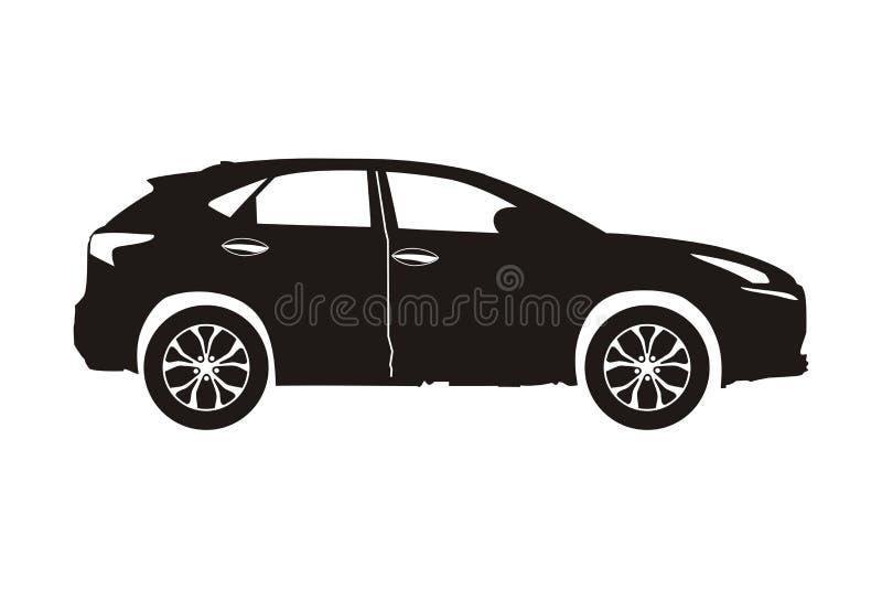 Ikona samochodu suv ilustracja wektor
