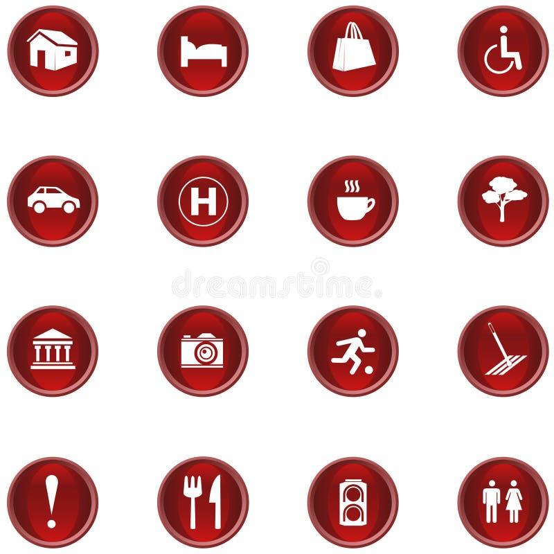 ikona set obrazy stock