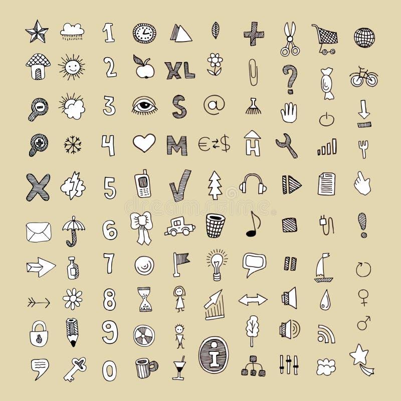 ikona set royalty ilustracja