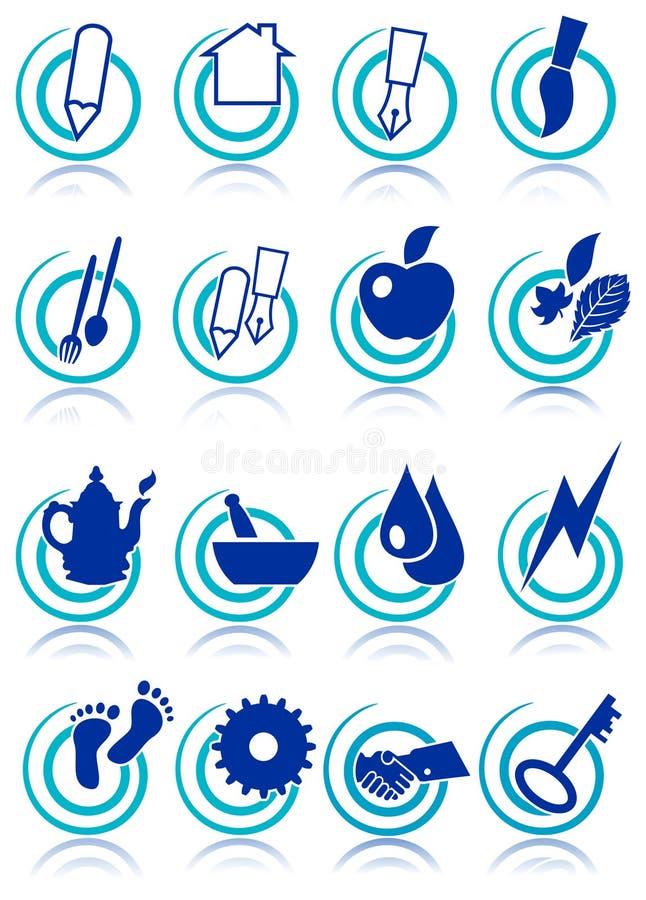 Ikona set ilustracja wektor
