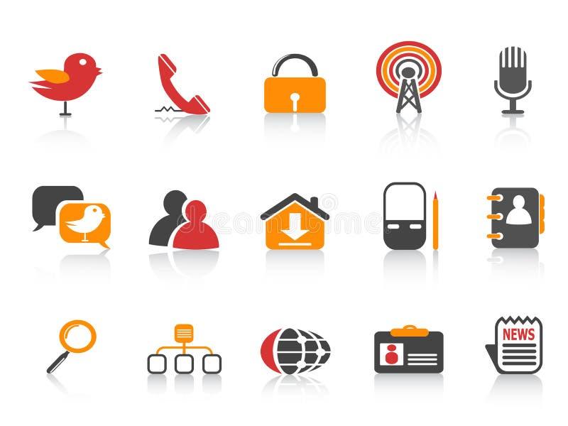 ikona socjalny medialny prosty