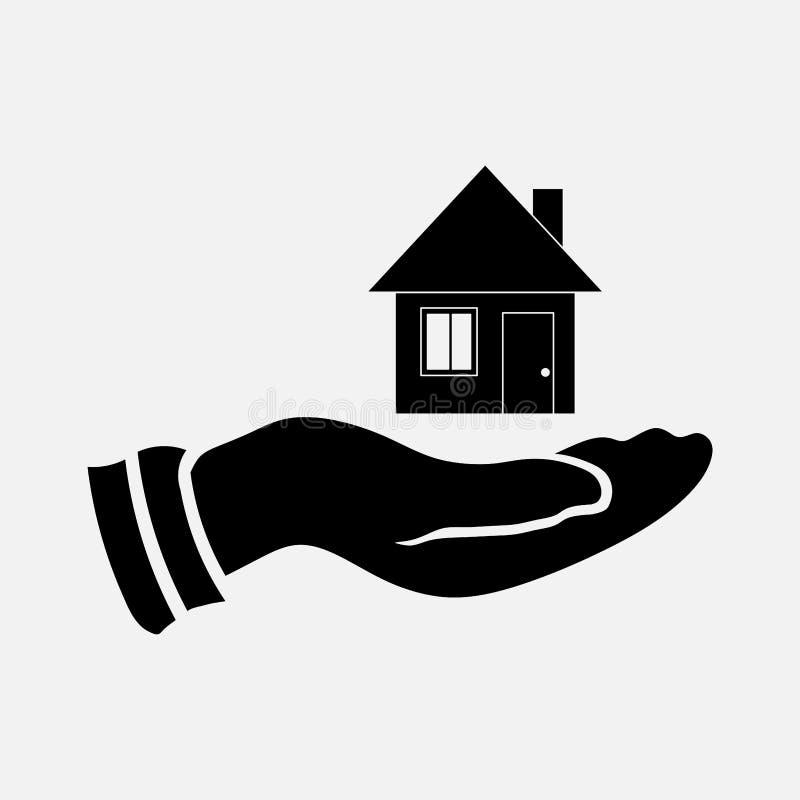Ikona sprzedaje dom, ratuje mieścić ilustracji