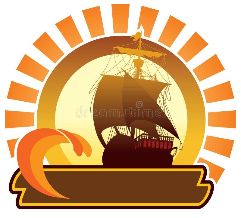 ikona statku lato royalty ilustracja