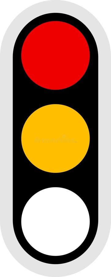 ikona sygnału ruchu royalty ilustracja