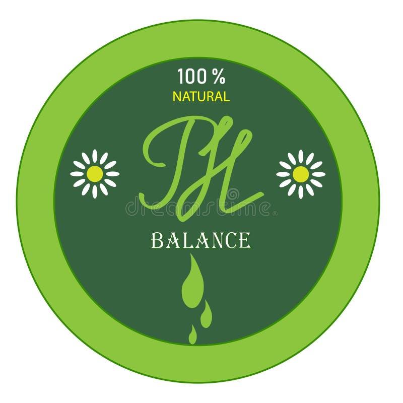 Ikona symbol bazy równowaga naturalny produkt, zielony kolor royalty ilustracja