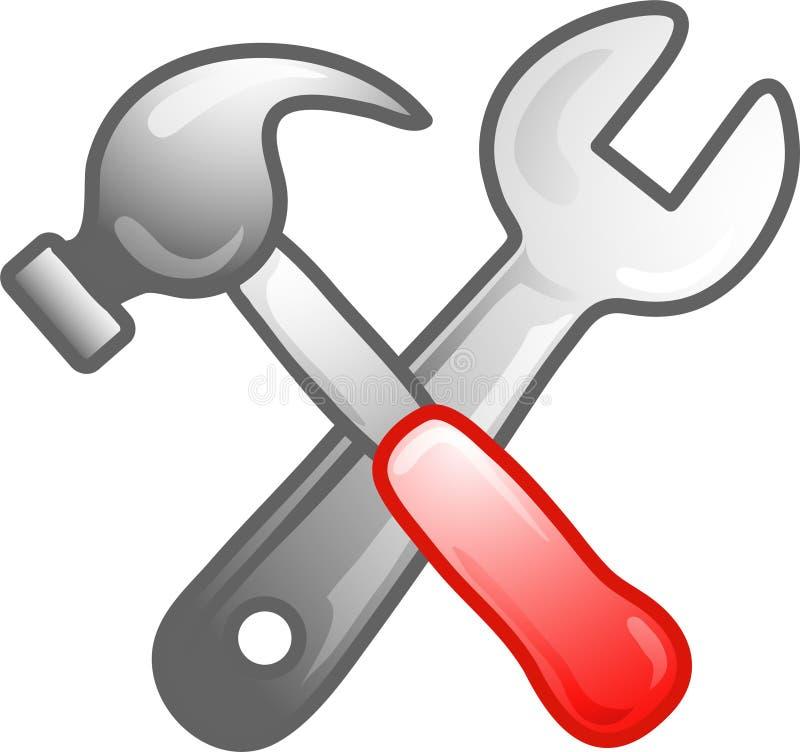 ikona symbolu narzędzi ilustracja wektor