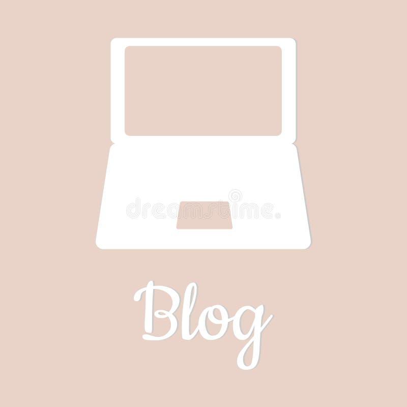 Ikona szablonu pokrywa dla blogu ilustracja wektor
