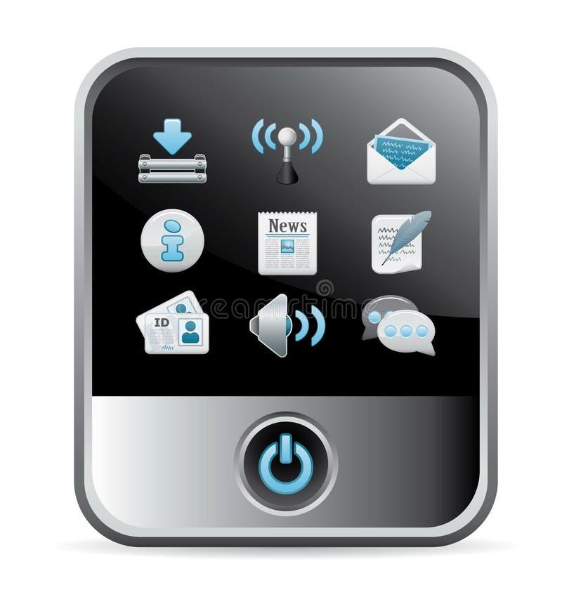 ikona telefon royalty ilustracja