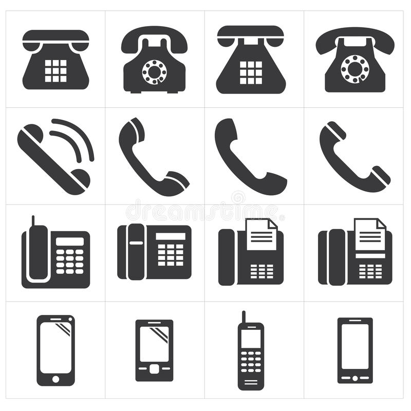 Ikona telefoniczny klasyk smartphone ilustracja wektor