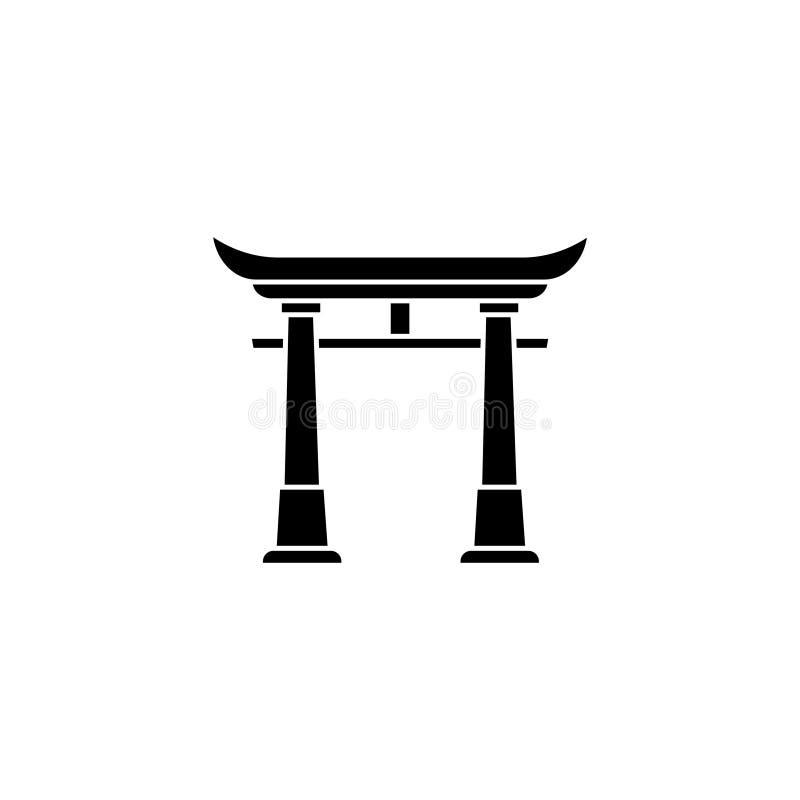 ikona Torii, Japonia brama ilustracji