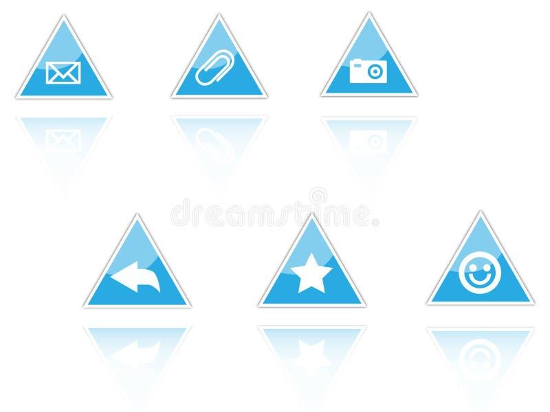 ikona trójkąt royalty ilustracja