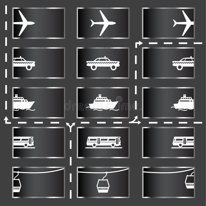 Download Ikona transportu ilustracja wektor. Obraz złożonej z city - 1508090