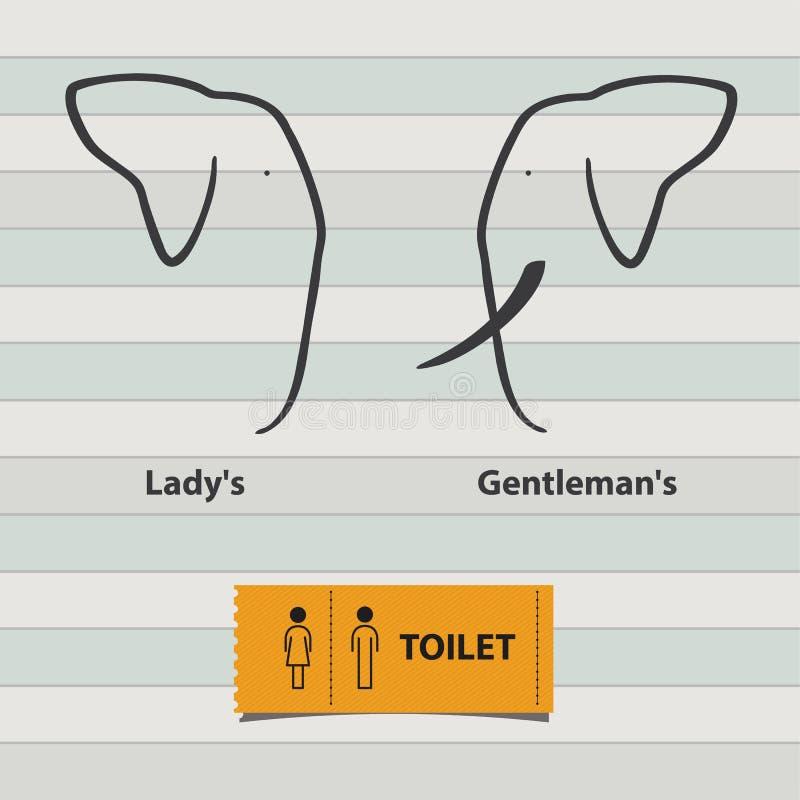 Ikona Ustawiająca mężczyzna i damy toalety znak ilustracja wektor