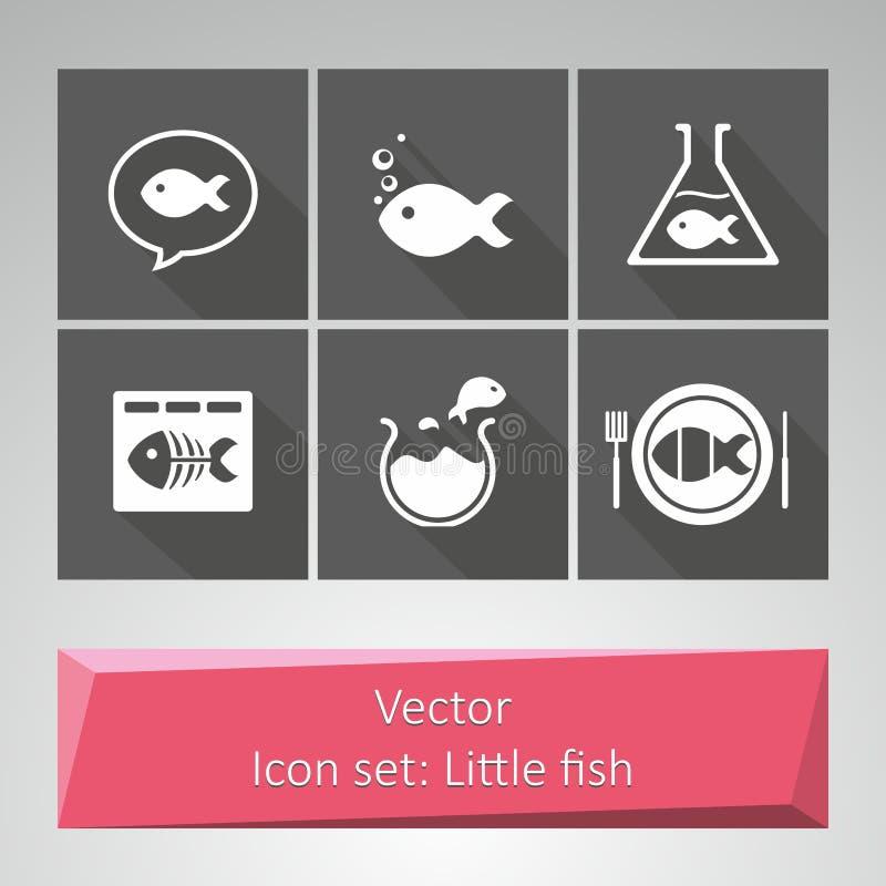 Ikona ustawiająca: Mała ryba ilustracja wektor