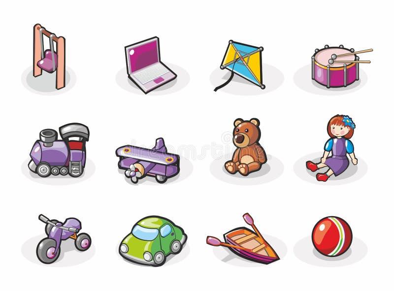 Ikona ustawiająca zabawki royalty ilustracja