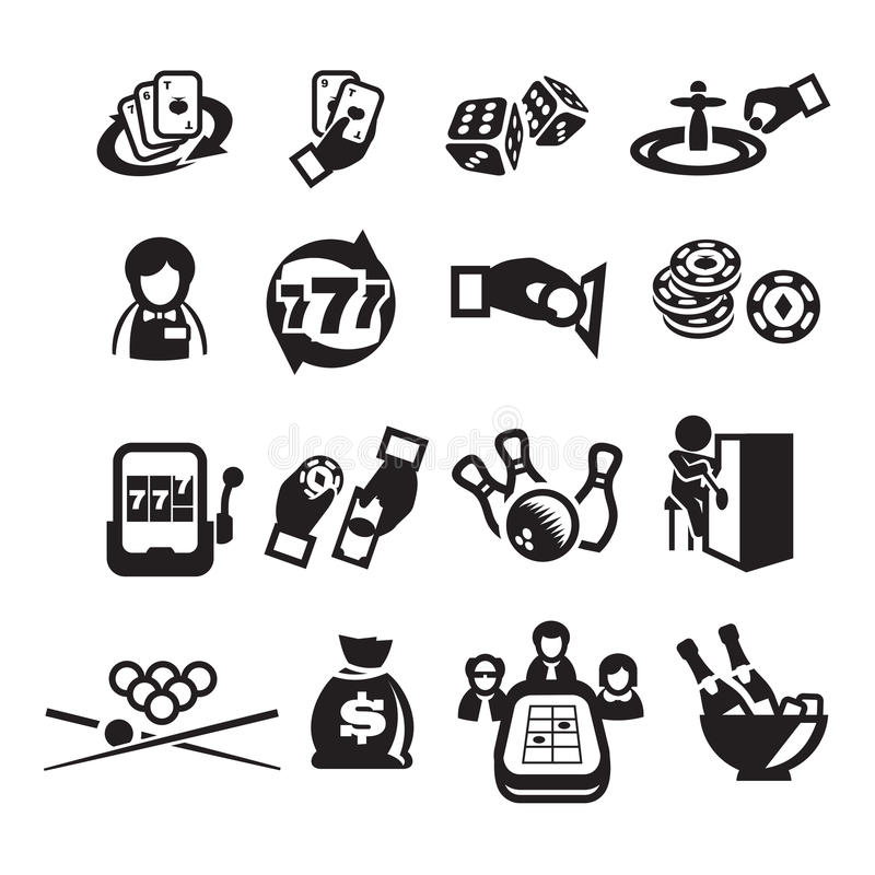 Ikona ustawiający kasyno ilustracja wektor