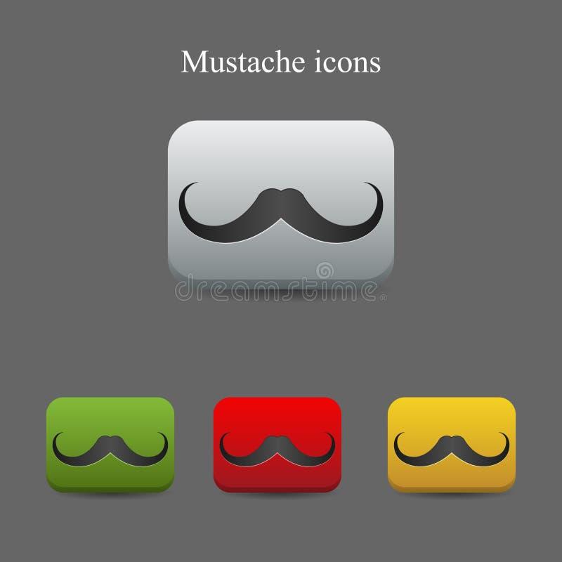 ikona wąsy ilustracji