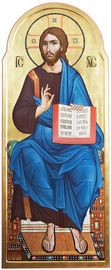 Ikona władyki jezus chrystus obrazy royalty free