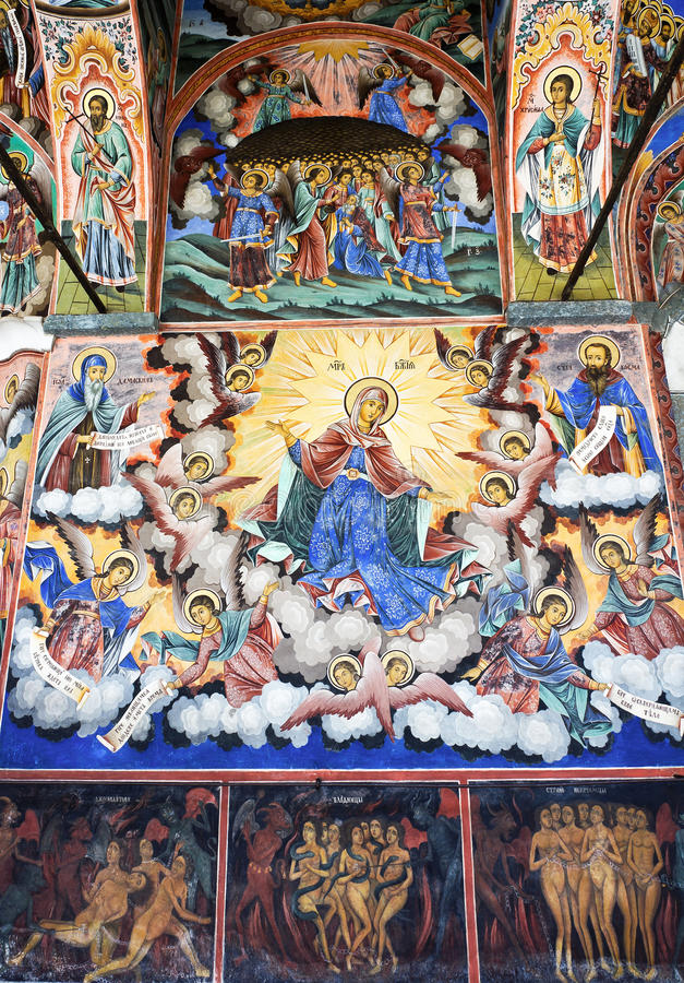 Ikona w Bułgarskim Rila monasterze zdjęcie stock