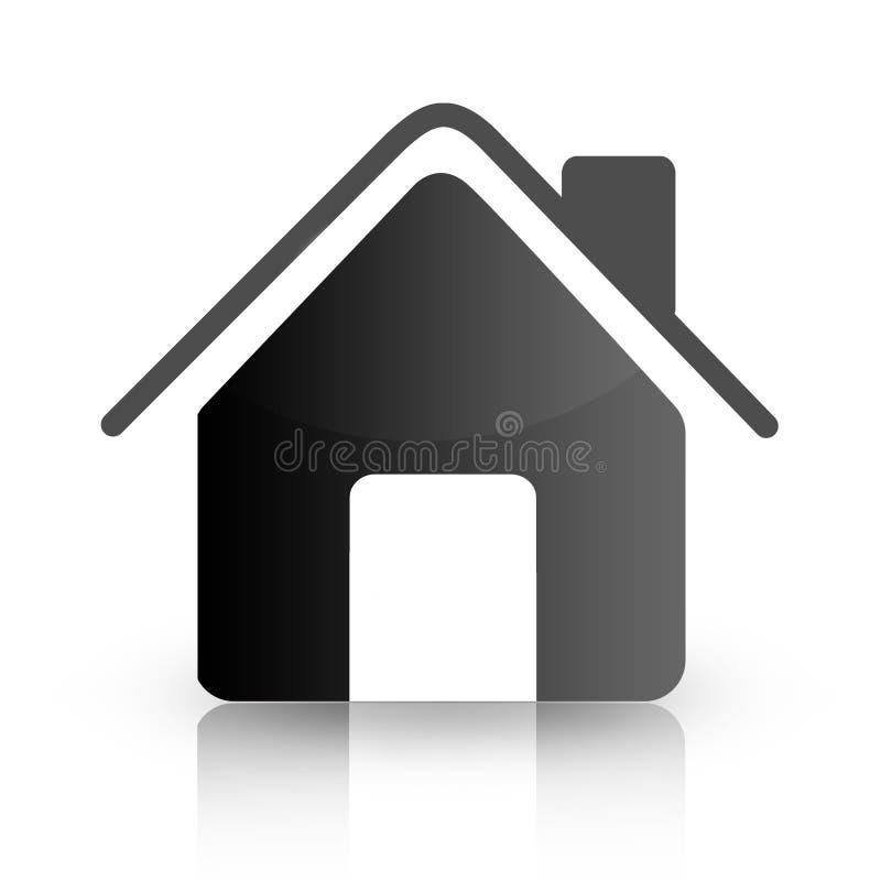 ikona w domu royalty ilustracja